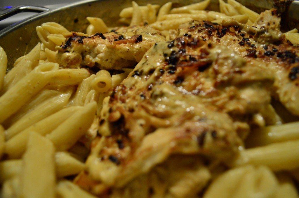 Mustard cream pasta
