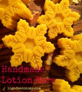 Handmade lotion bars are