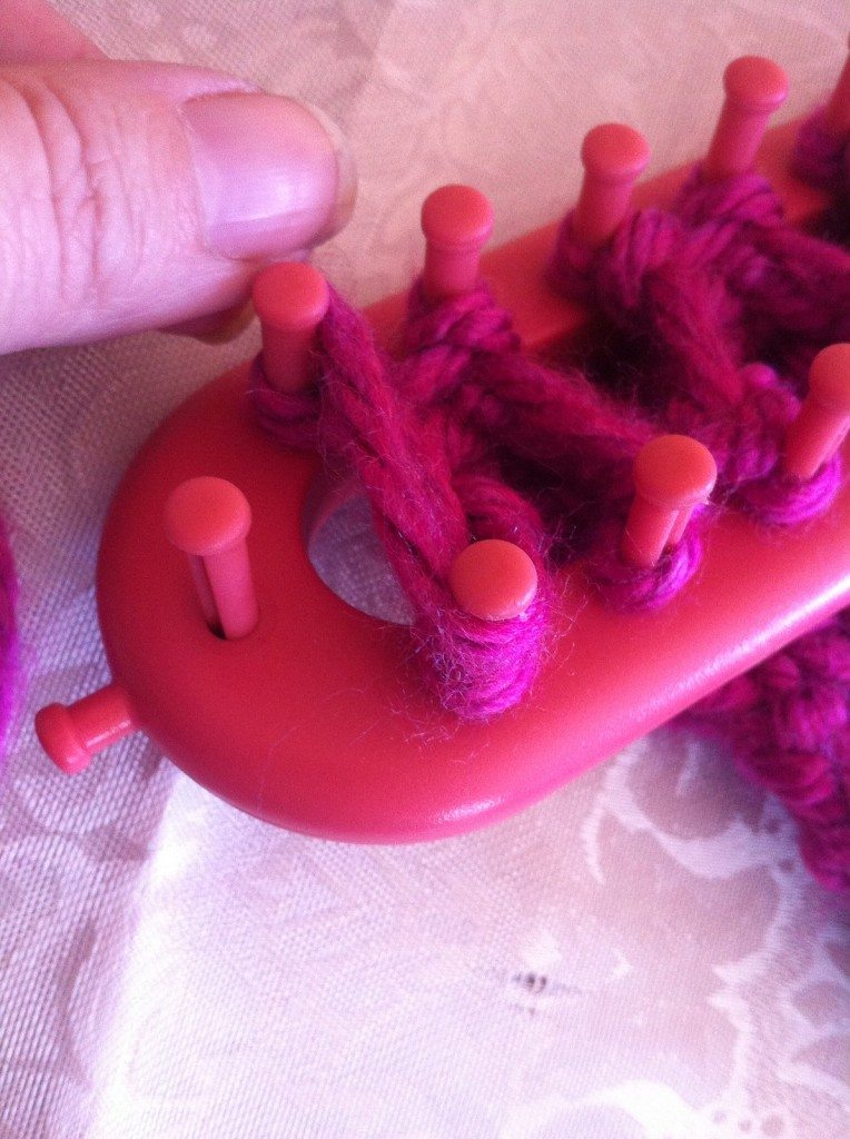 Learn to knit cables on a loom