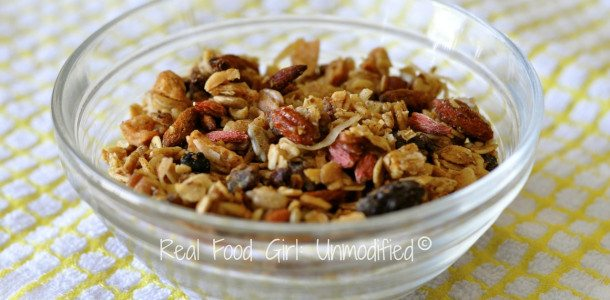 Eating for Life: Daniel Plan breakfast--homemade granola cereal