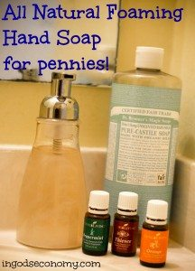Make Your Own Germ Killing Foaming Handsoap for Pennies!