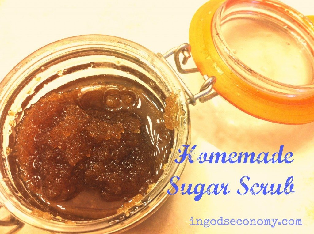homemade sugar scrub